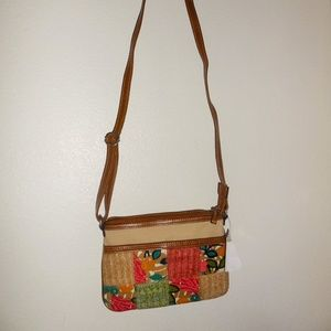 Relic Bags - New Relic Canvas Floral Patchwork Crossbody Bag